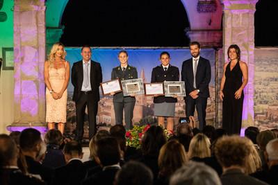 """Valentina Rodini and Federica Cesarini, winners of the Special Award """"L'Italia nel cuore"""" (Italy in the Heart)"""